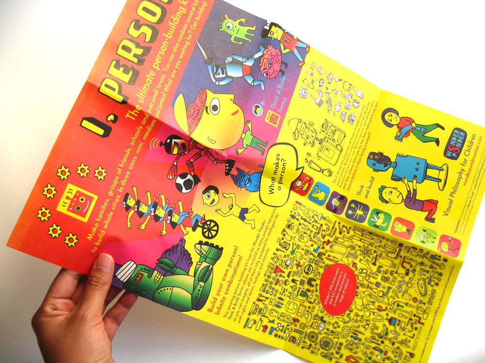 Poster included in the second title of the Visual Philosophy for Children Series by Wonder Ponder