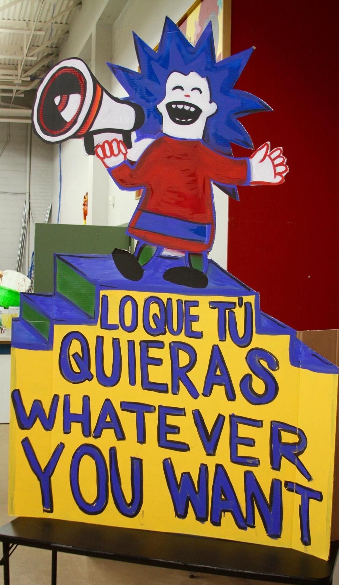 'Welcome'. Photo credit: Luis Hernández from El Diario de El Paso.