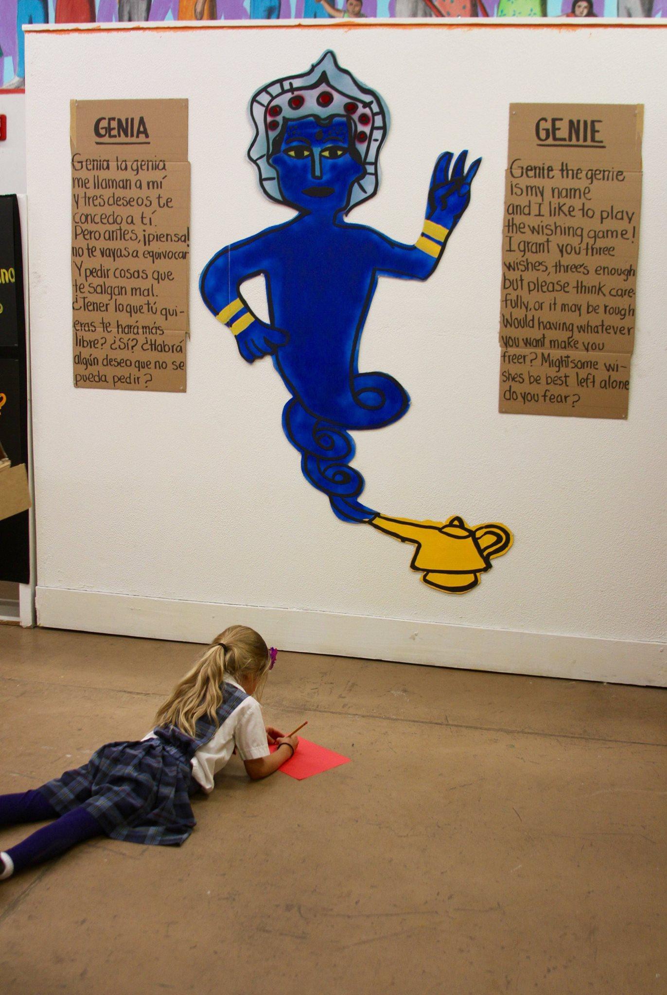 'Genie the genie.' Photo credit: Luis Hernández from El Diario de El Paso.