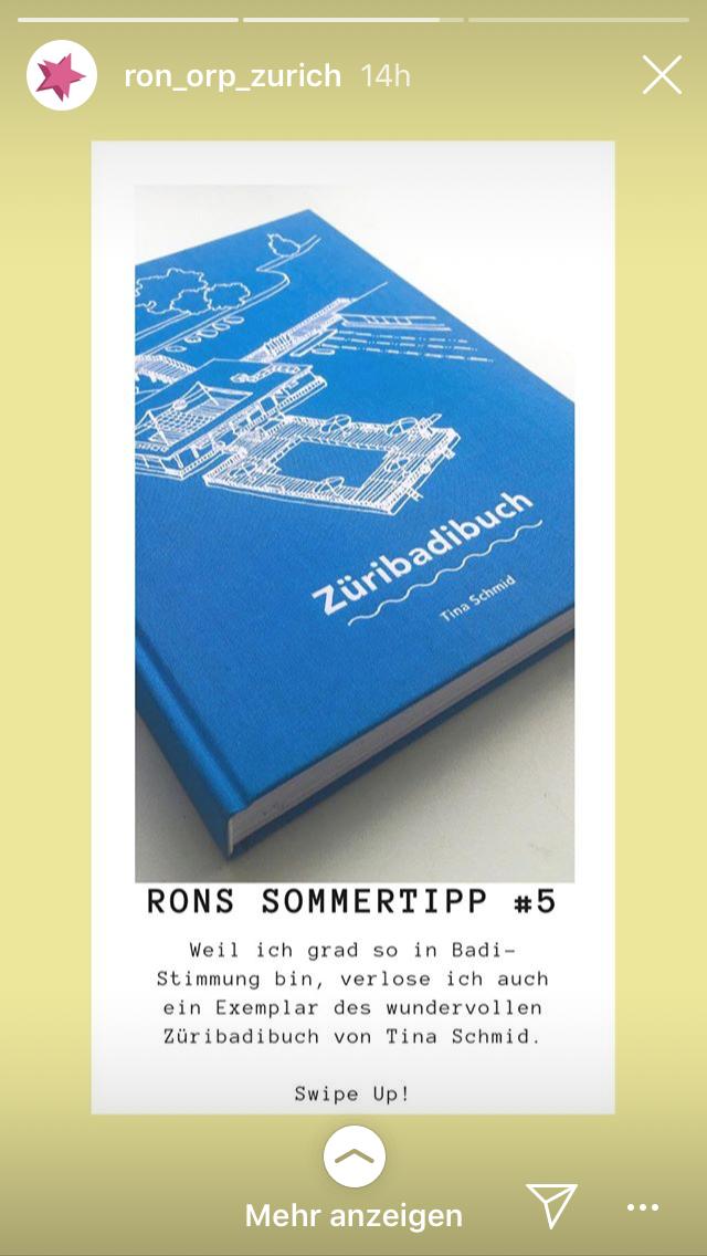 Ron Orp Zürich / Juli 2019
