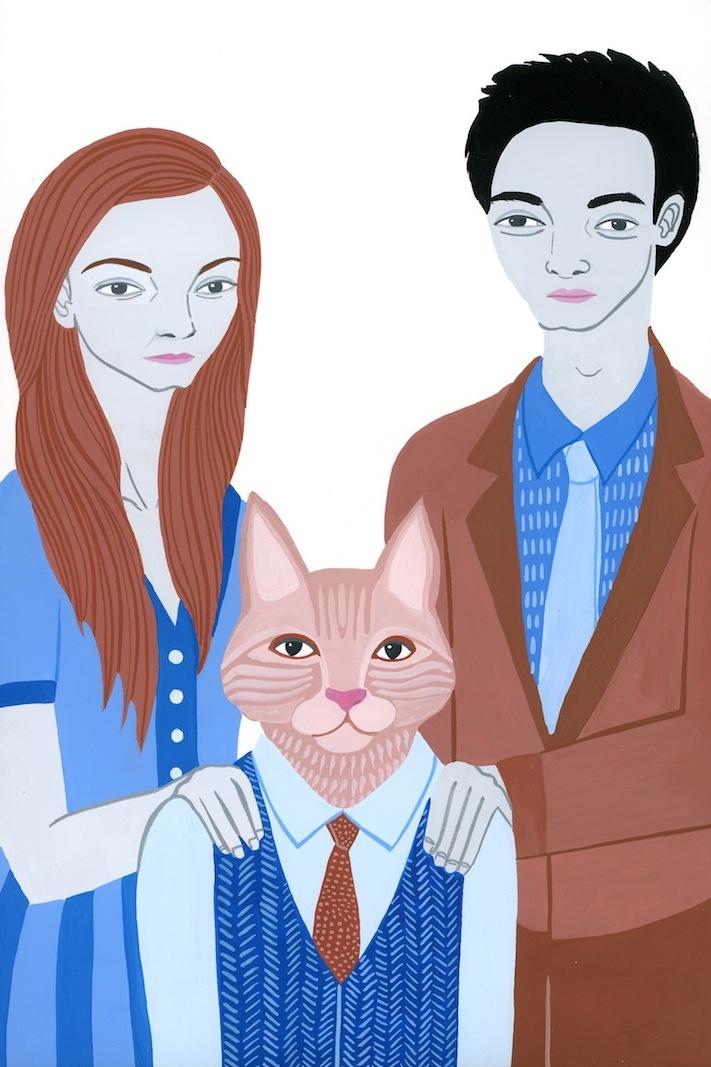 Alison, Simba, Garrett