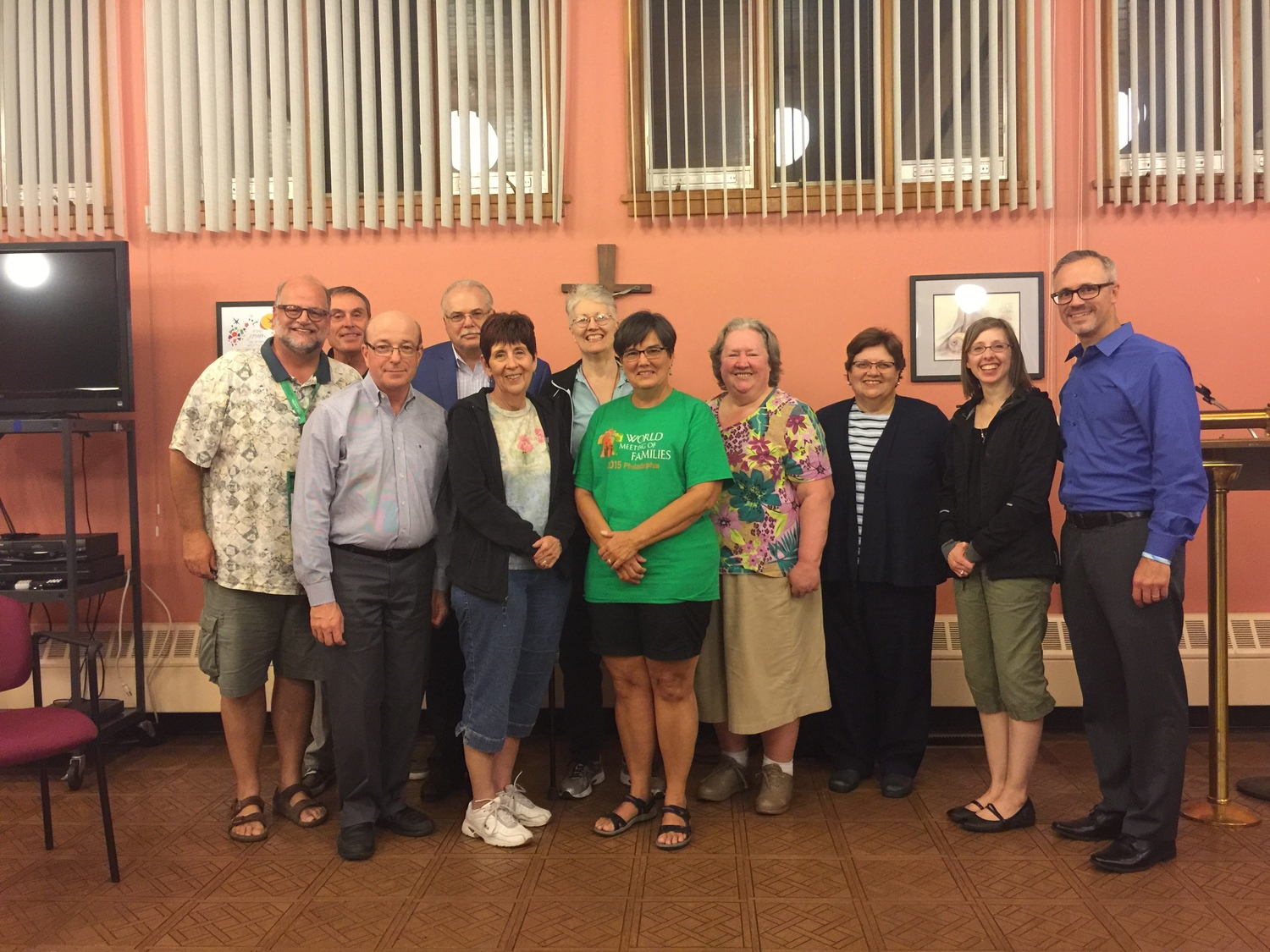 The World Meeting of Families: shown here is a group from both Ohio and New Jersey who met in the Fall of 2015 to discuss the World Meeting of Families.