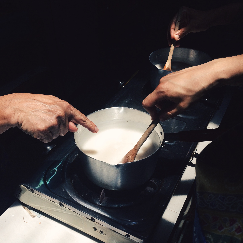 como preparar tako, gelatina de coco