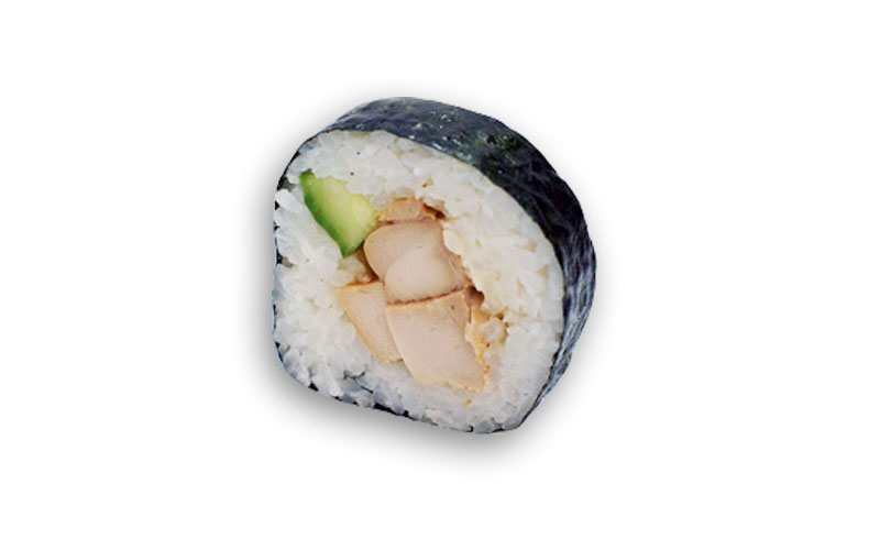 sushi sin pescado crudo