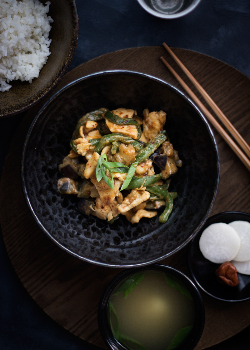 spicy miso chicken