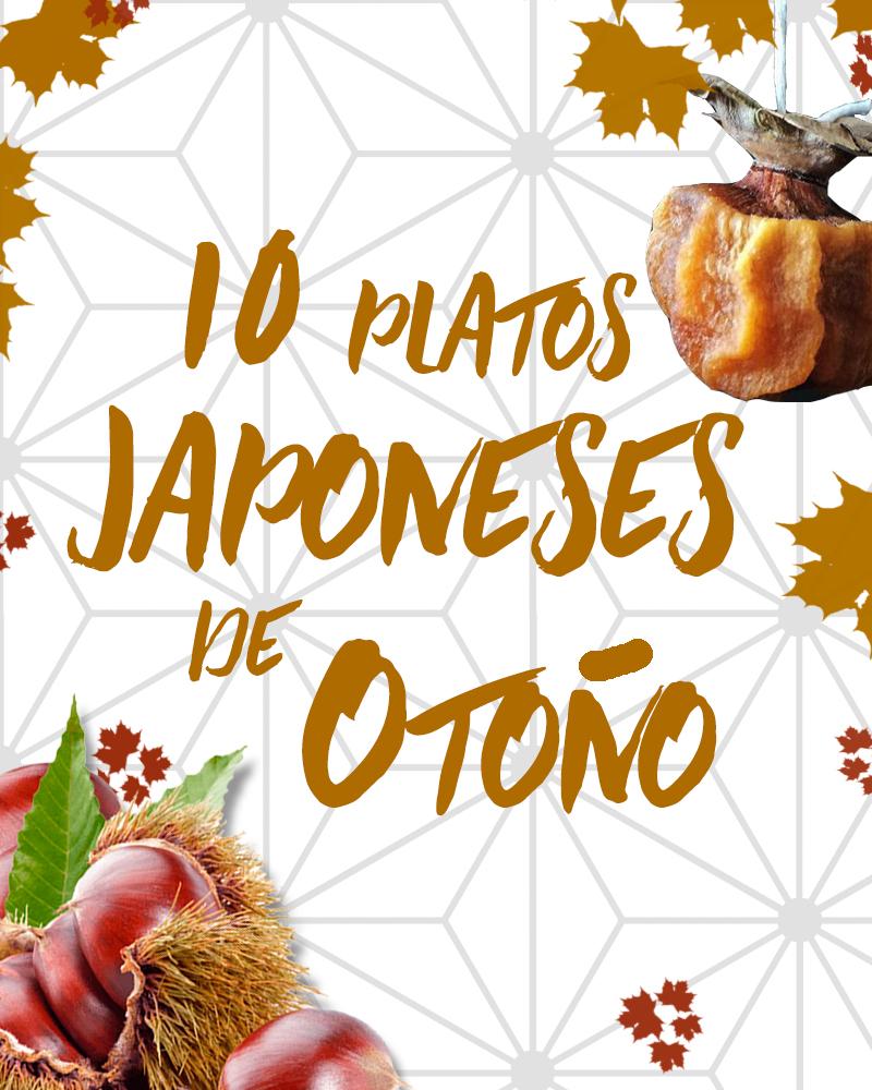 platos japoneses de otoño