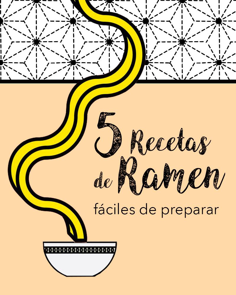 5 recetas de ramen fáciles de preparar