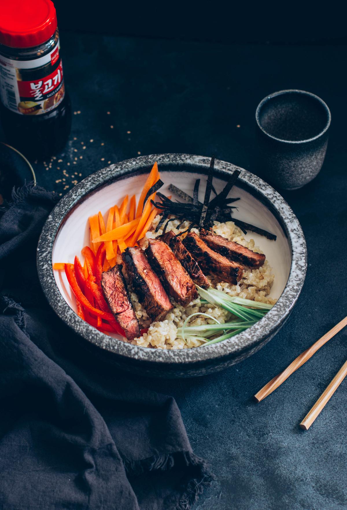 Bol coreano con ternera bulgogi