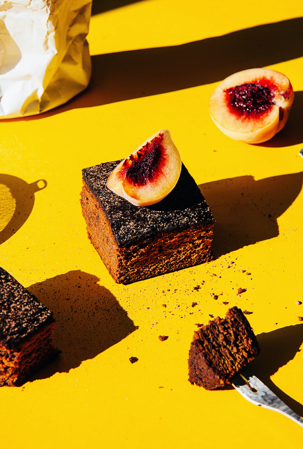 red miso chocolate brownie