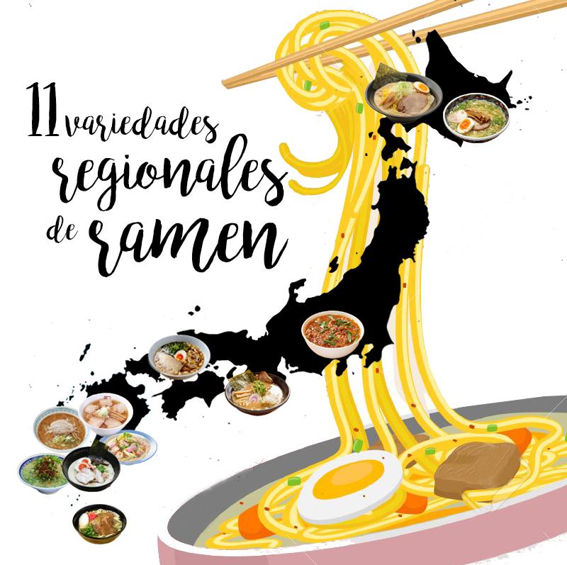 11 variedades regionales de ramen japonés
