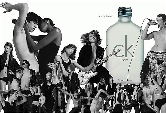 Vinny Michaud in the Calvin Klein CK one fragrance campaign. Model Vincent Michaud