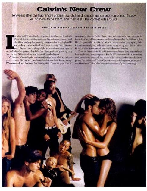 Vinny Michaud Calvin Klein Story W Magazine Model Vincent Michaud