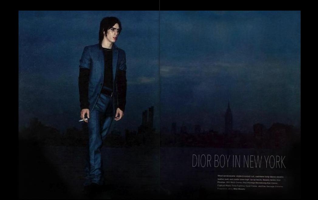Vinny Michaud in Dior Model Vincent Michaud