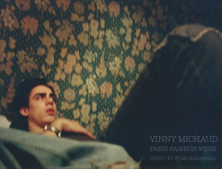Vinny Michaud Fashion week Paris photographed by Fumi Nagasaka Model Vincent Michaud
