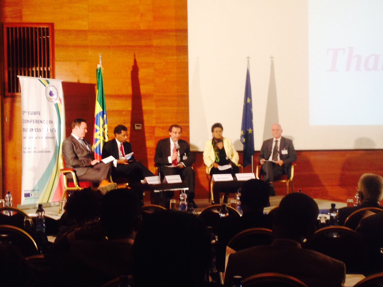 Jean-Paul Gauthier participating in a panel discussion at the EU Business Forum conference in Addis Ababa