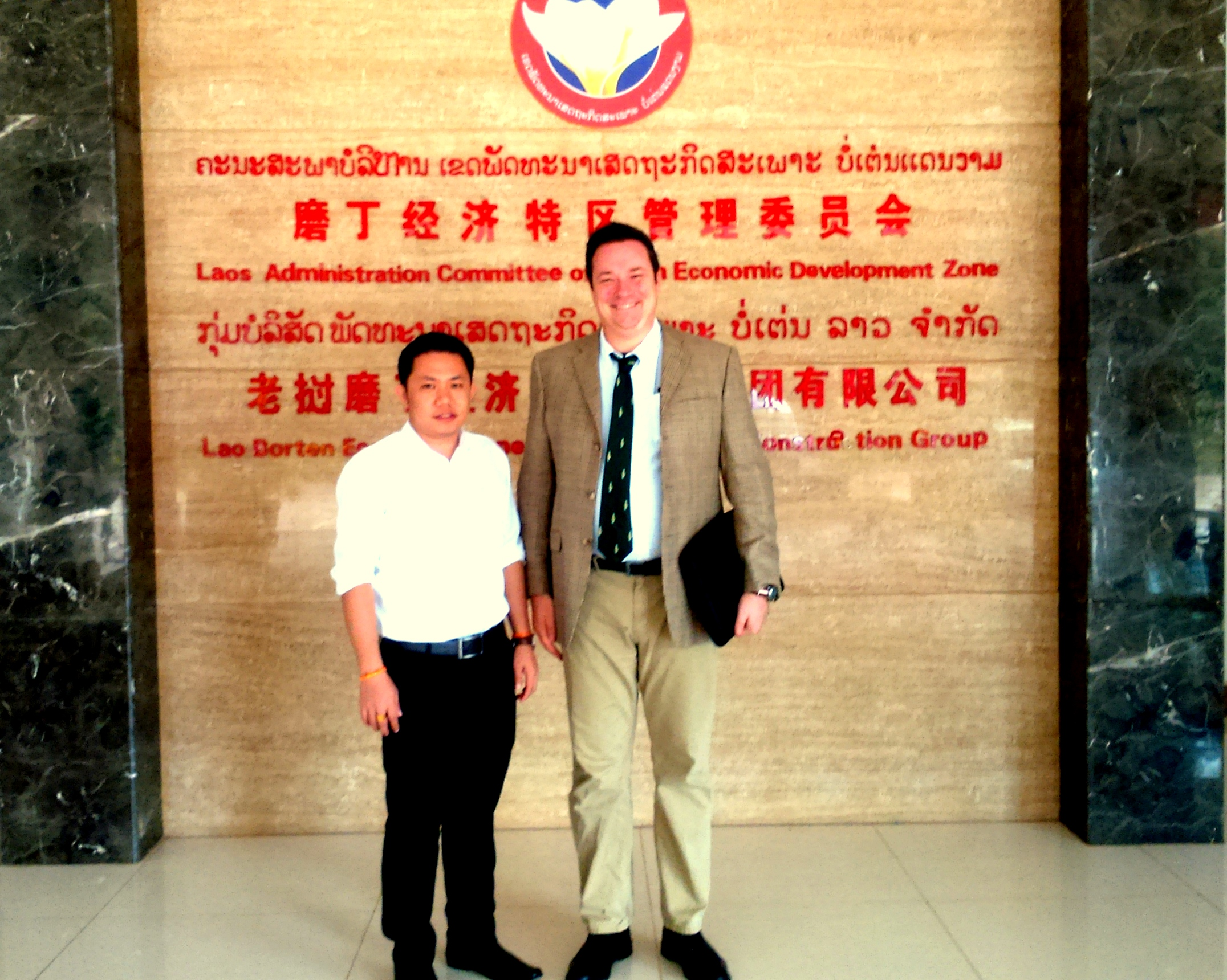Locus Economica founder and CEO Jean-Paul Gauthier at Boten, one of Lao PDR's SEZs.