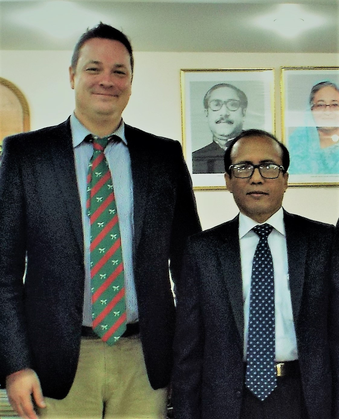 BEZA Executive Chairman Paban Choudhury with Locus founder & CEO Jean-Paul Gauthier in 2016