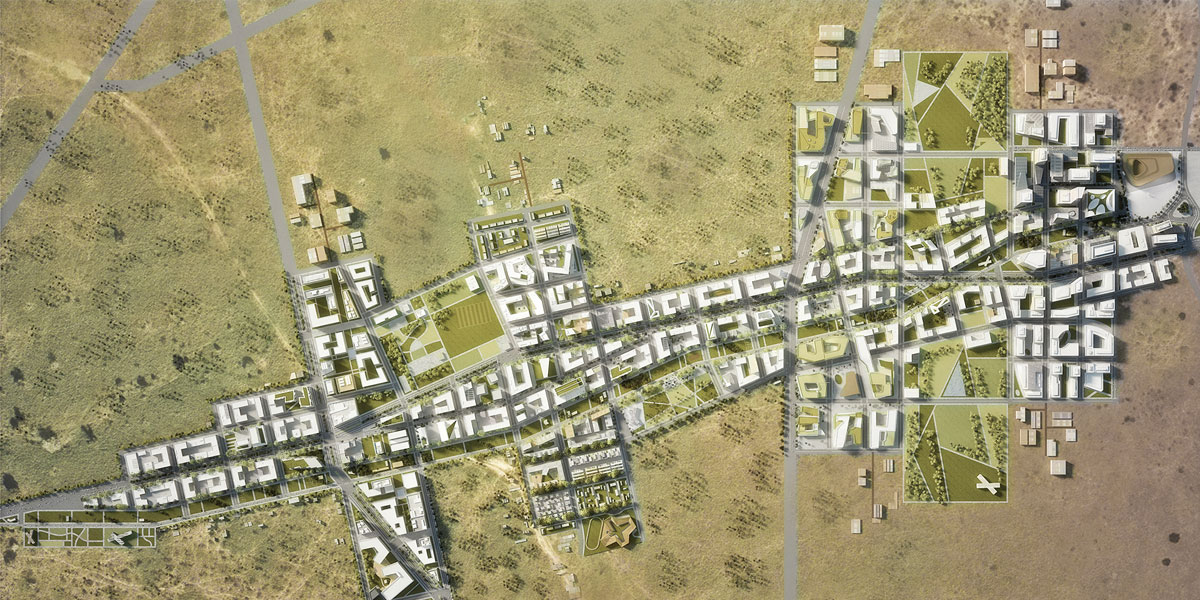 The masterplan of Konza Techno City