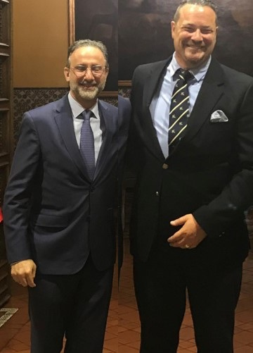 Jean-Paul Gauthier with Henry Kardonski, the CEO of Panamá Pacífico