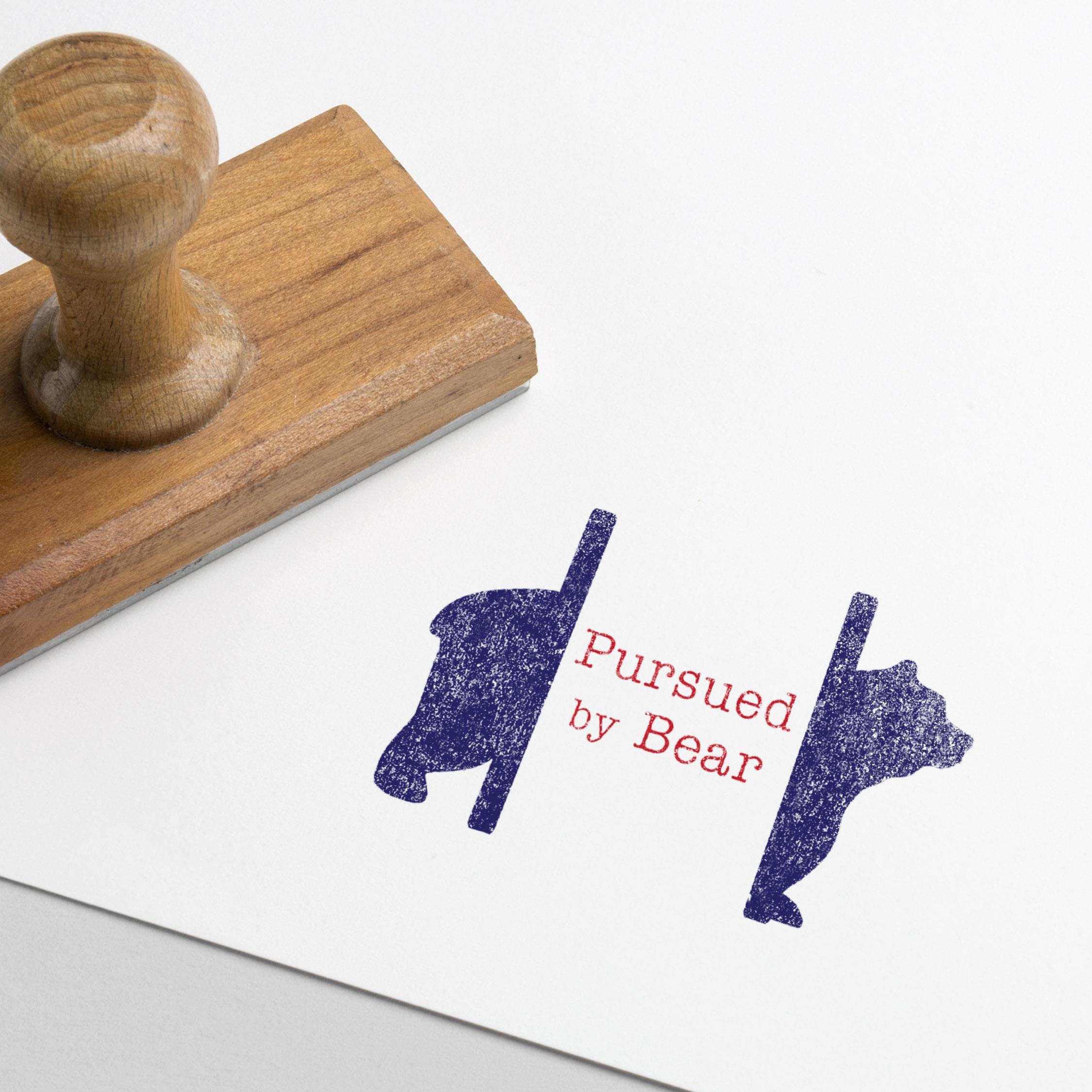 Pursued By Bear Logo Design