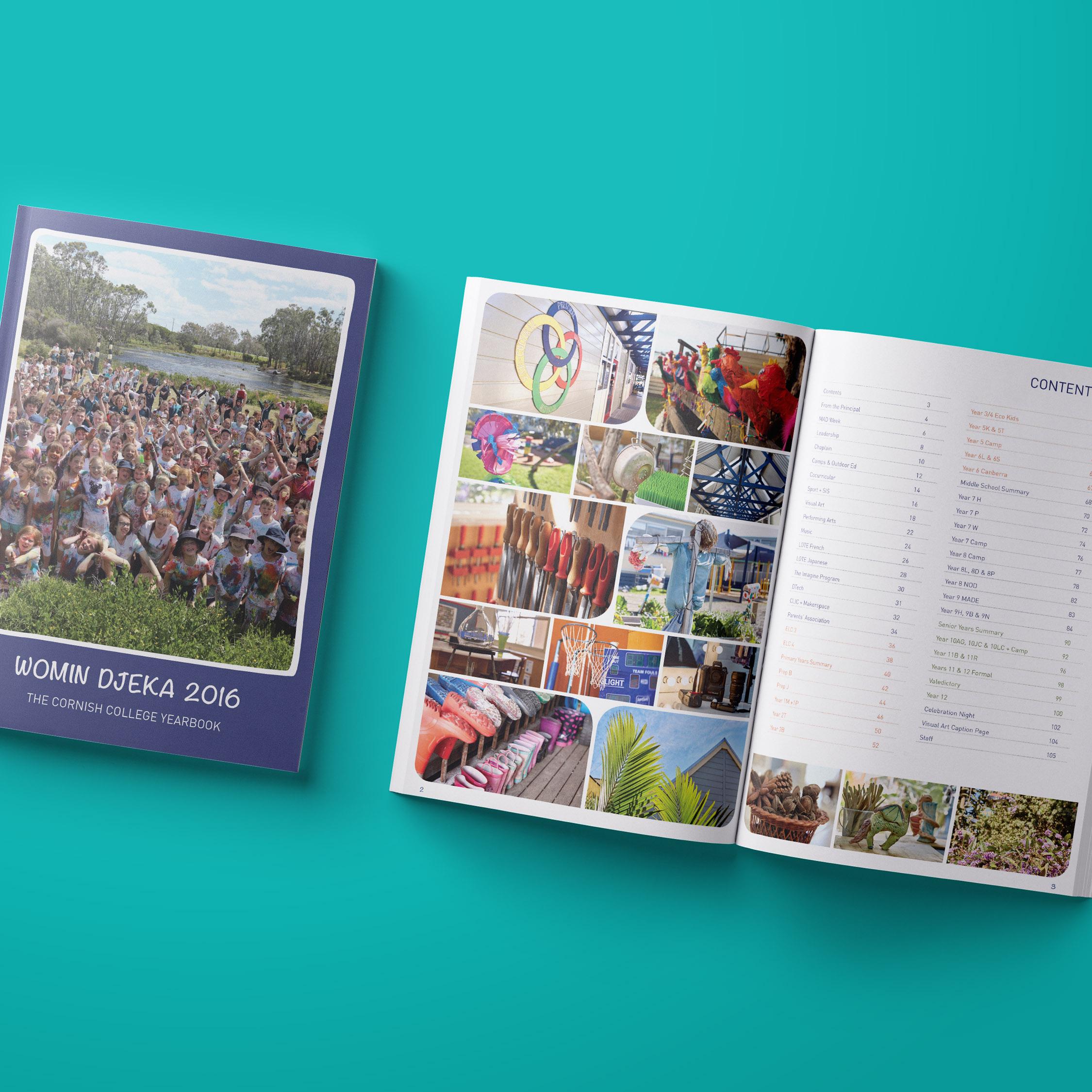 Womin Djeka - Cornish College 2016 Yearbook Design