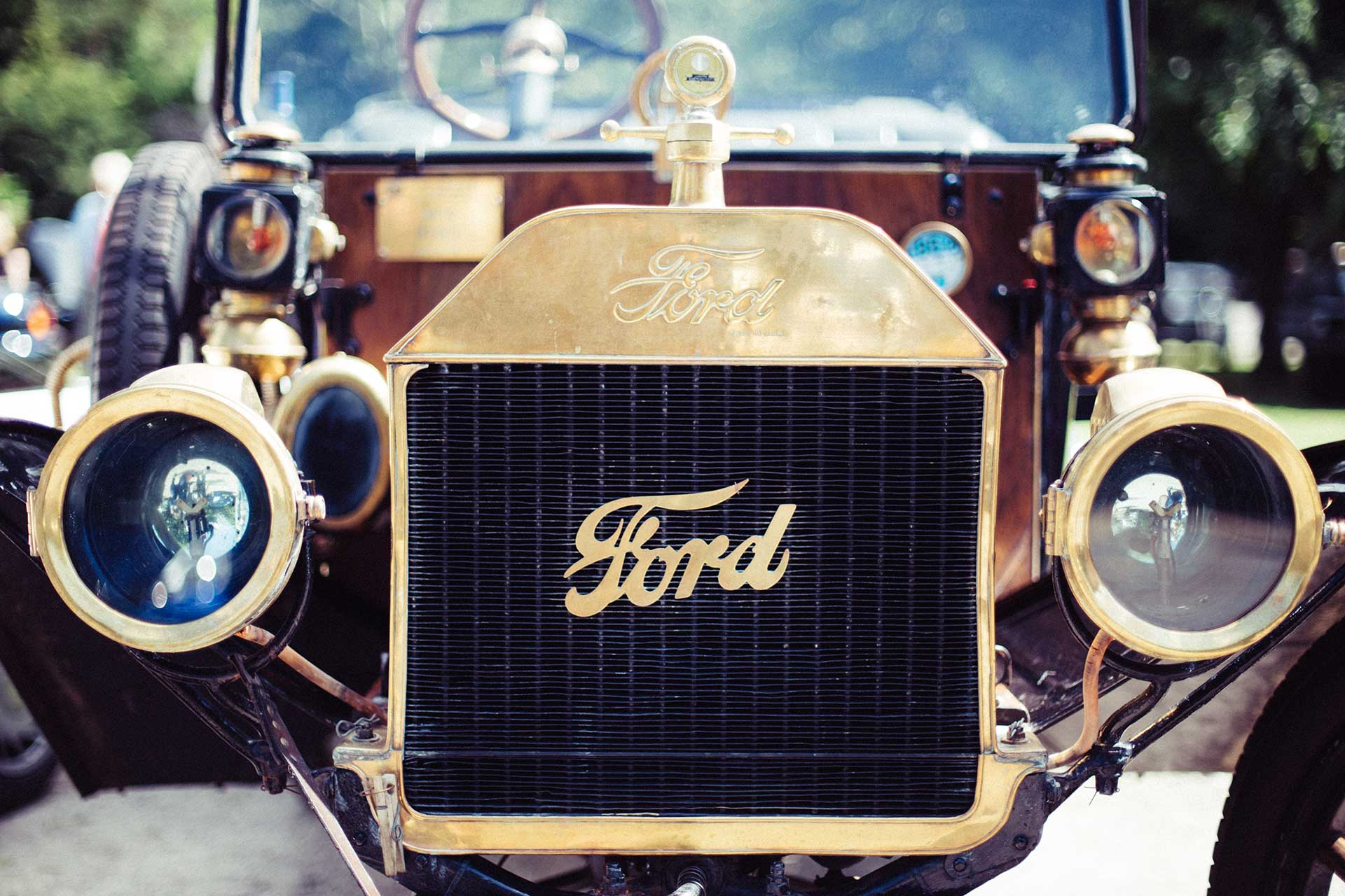 A Model T ford in all it's finery....
