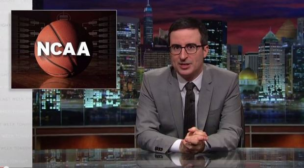 "Click to view John Oliver, ""The NCAA,""  Last Week Tonight , HBO, March 15, 2015."