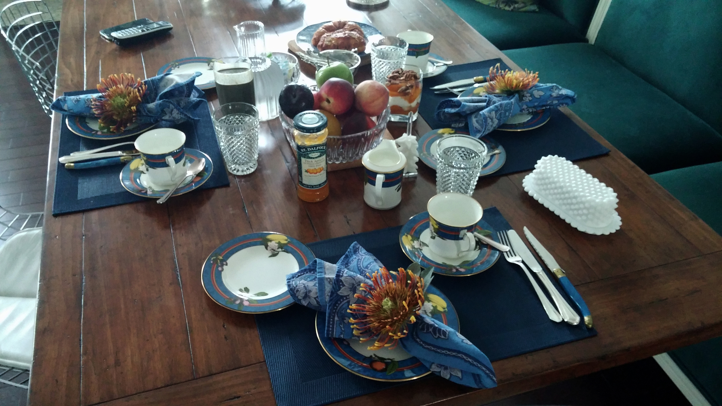The morning table.