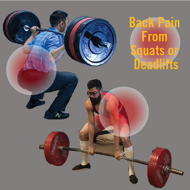 Back Pain from squats or Deadlifts