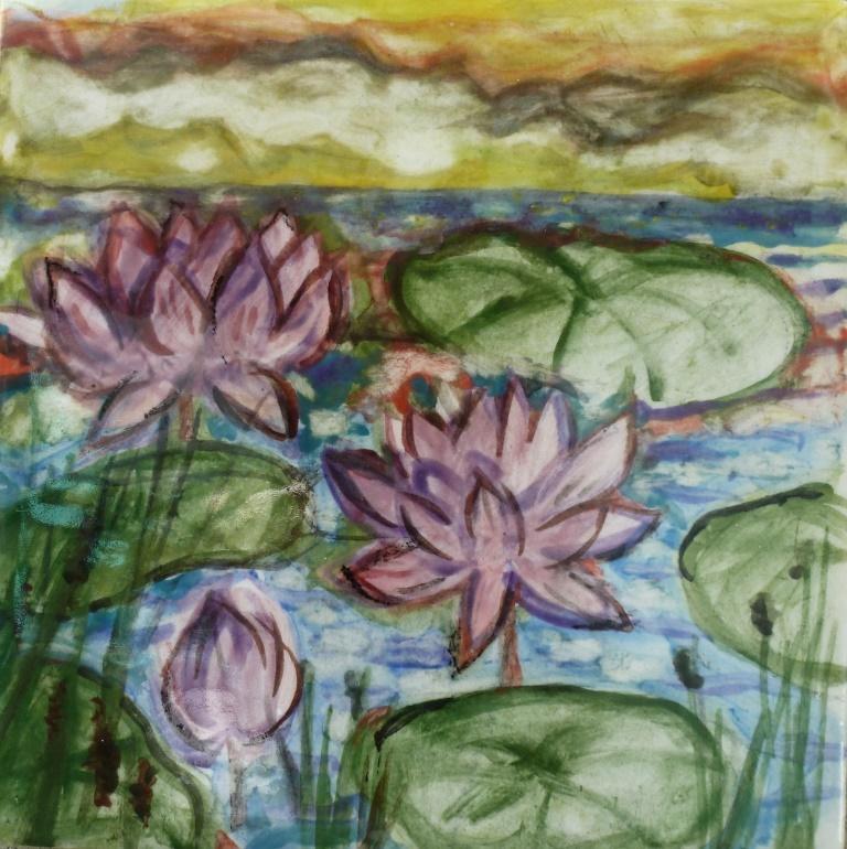 Blossoming Lotuses - 4x4.JPG