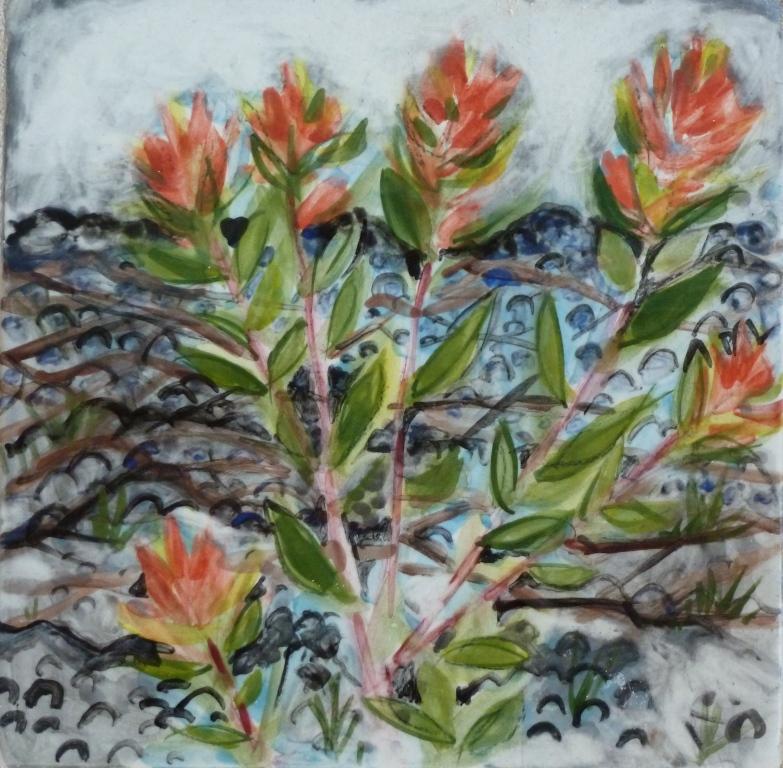 Indian Paintbush in Lava Rocks - 4x4.JPG