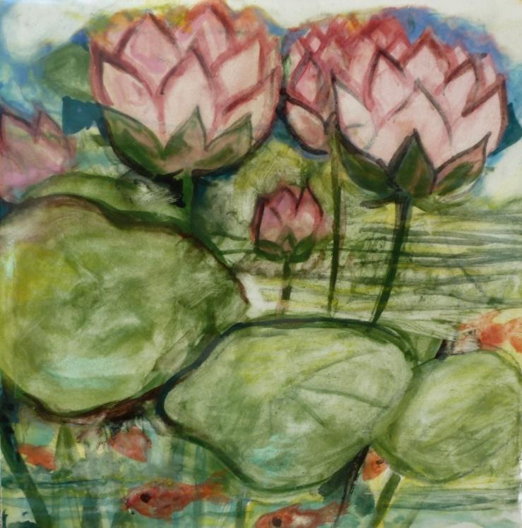 Lotuses and Fish - 4x4.jpg
