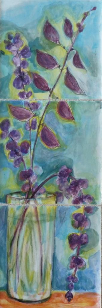 Purple Hyacinth Bean Bouquet - 4x12.JPG
