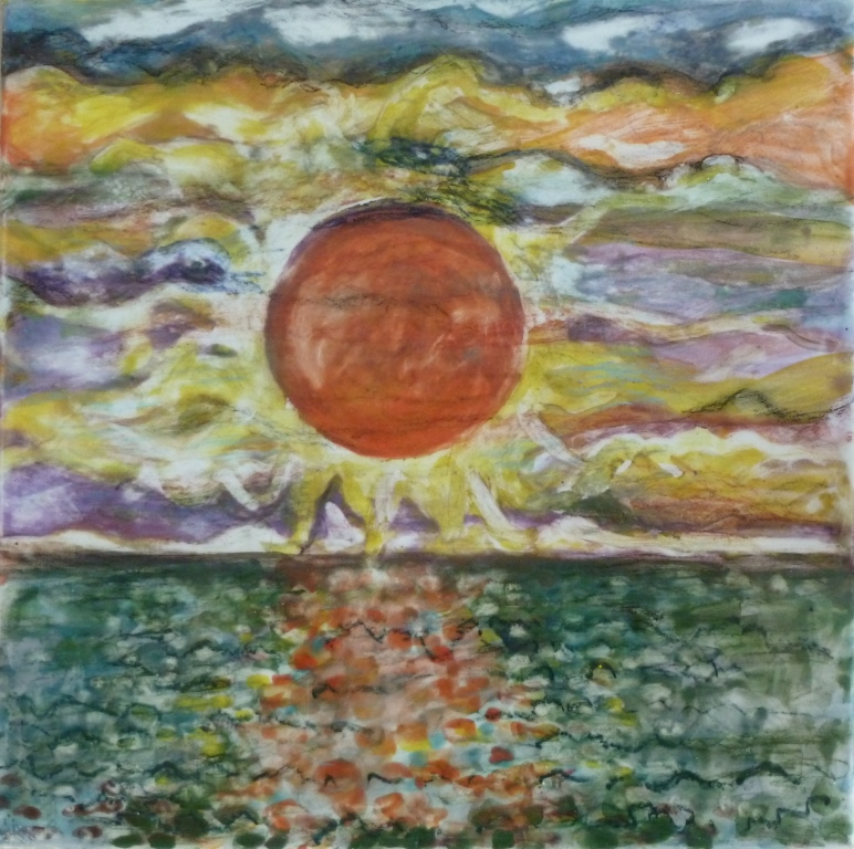 Storm Cloud Sunrise - 8x8.JPG