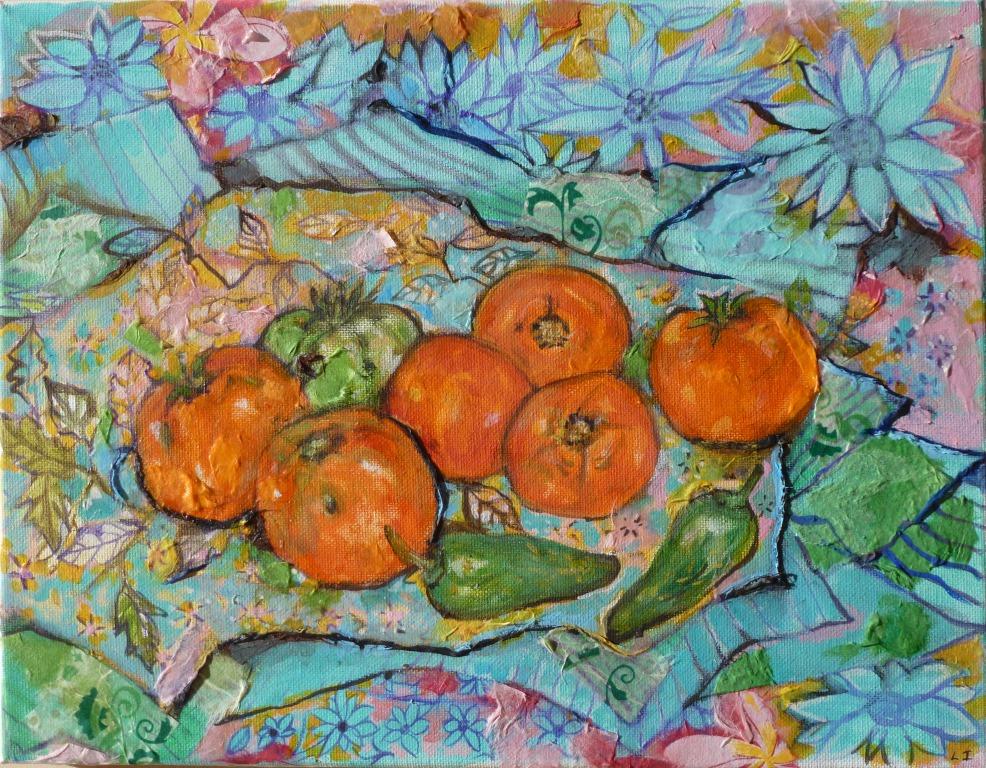 Tomato and Hot Pepper Still Life - 11x14.jpg