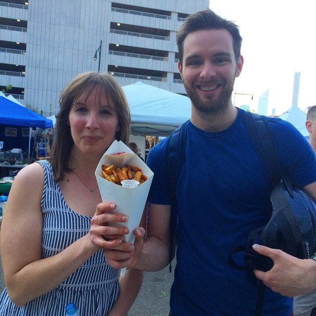Living life, loving fries! #LICFlea @echawked