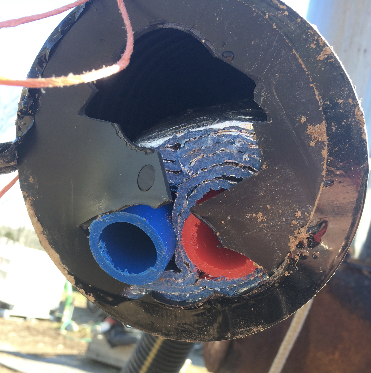 This is the weird insulated pipe