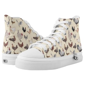 chicken print sneakers