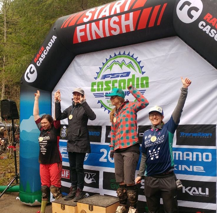 Aliza Enduro-ing it up at Cascadia Dirt Cup Enduro Tiger Mountain