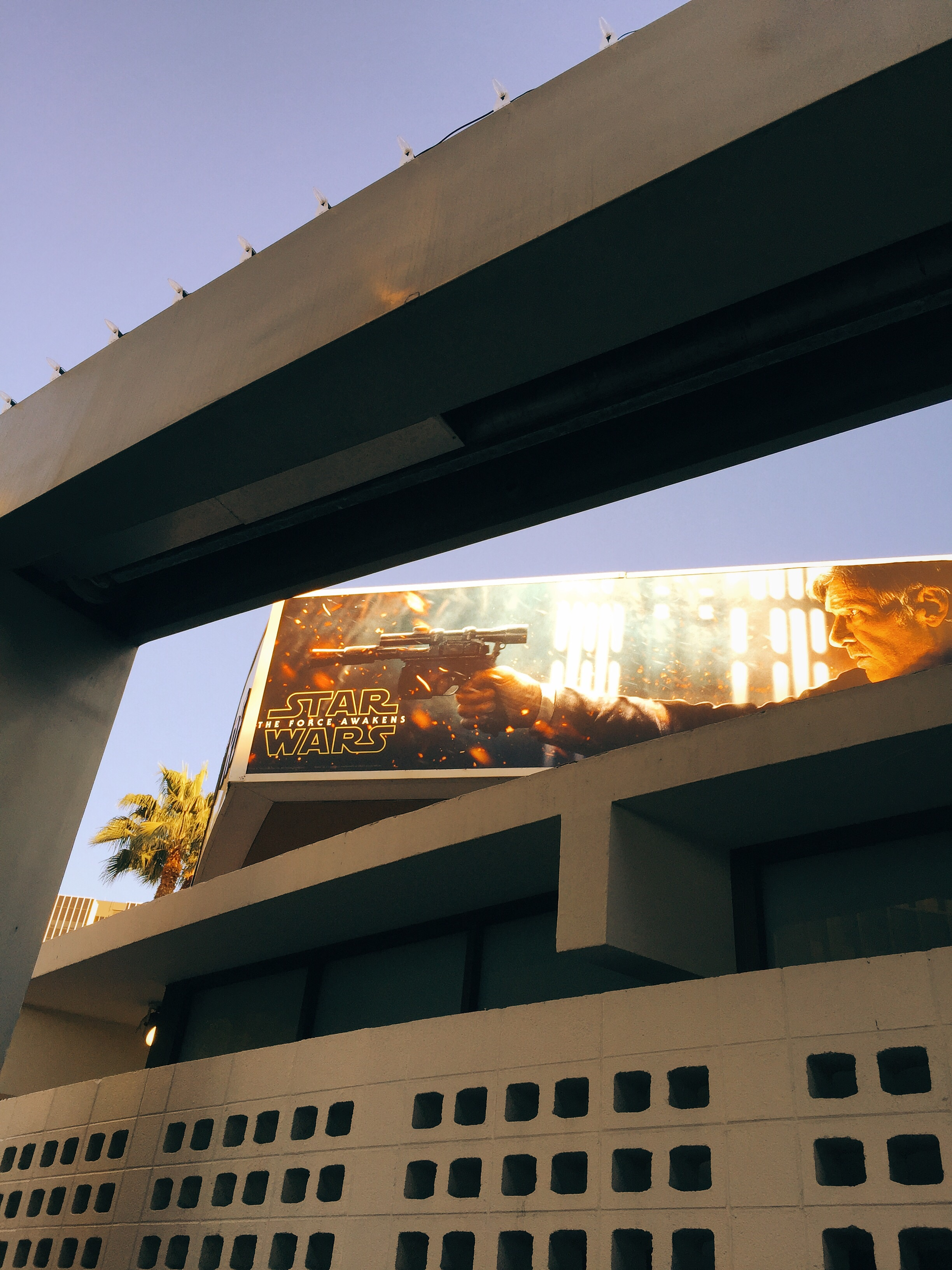 Outside the Arclight theater in Hollywood, CA.