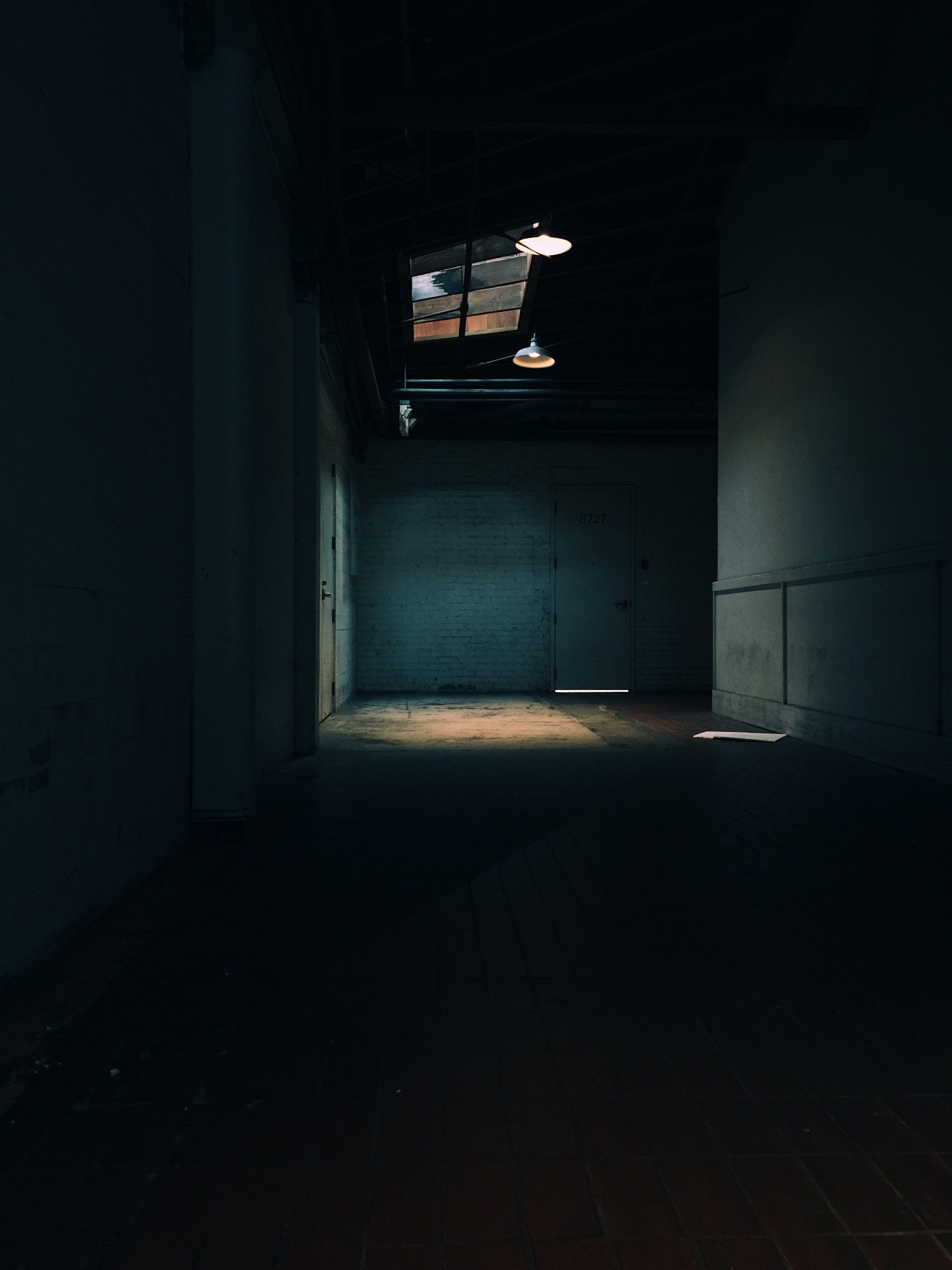 Still love the hallway walking back to this hidden studio.