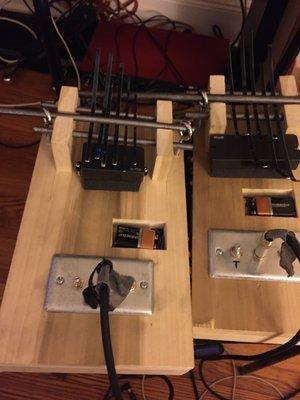 Electric Bass and Alto Kalimbas -