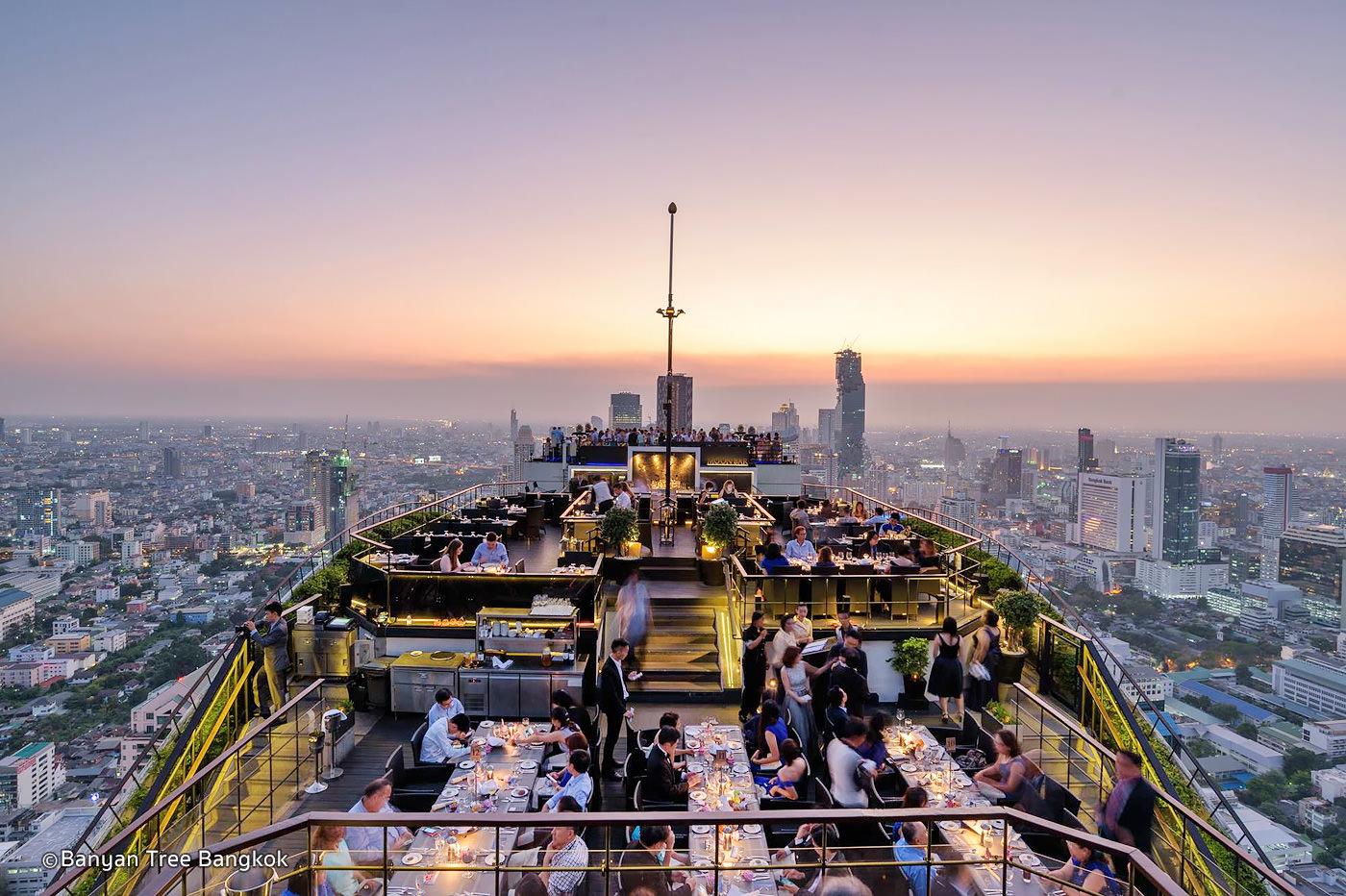 Vertigo Rooftop Bar at Banyan Tree Hotel