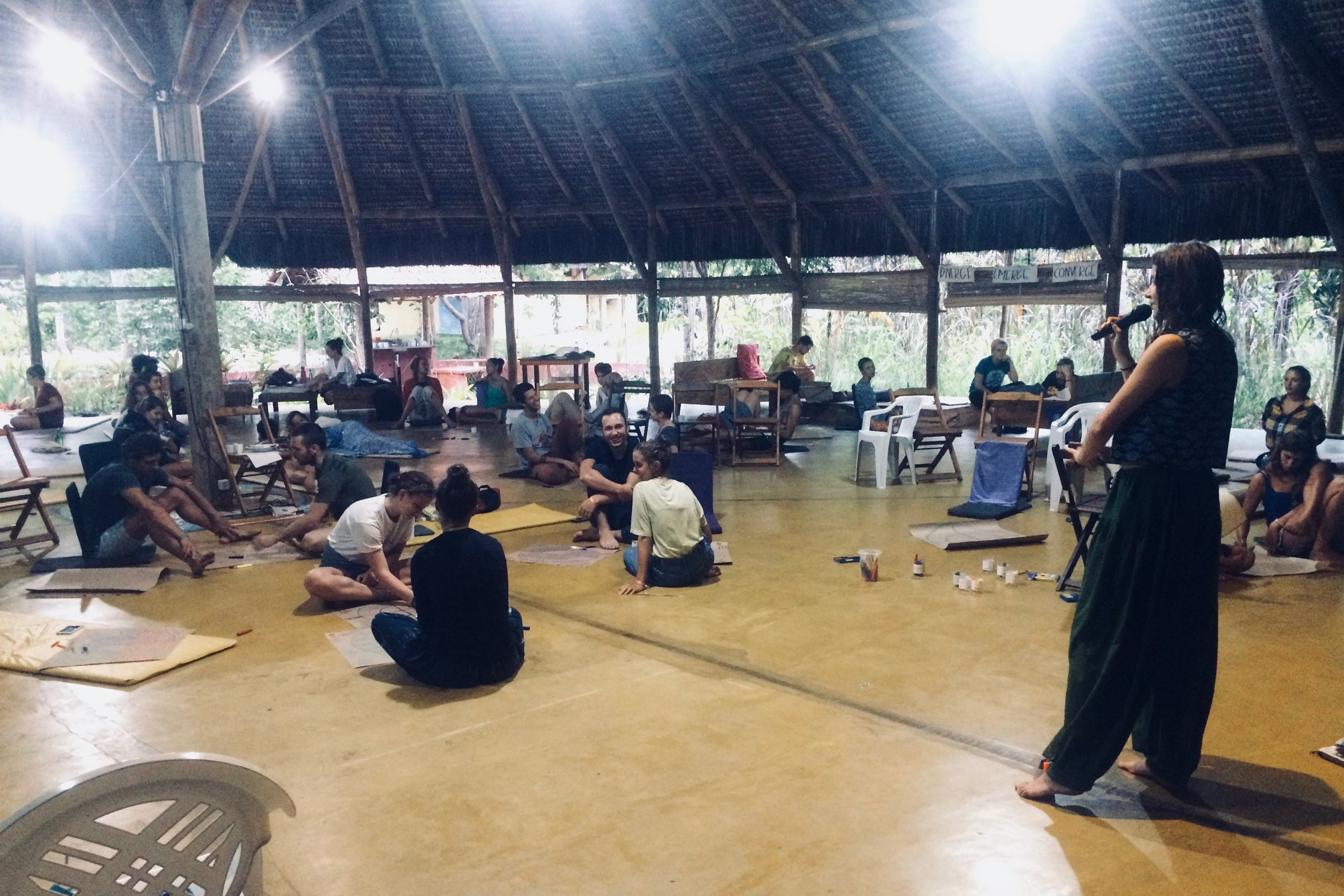 Facilitating a weeklong course in Piracanga, Brazil, 2017.