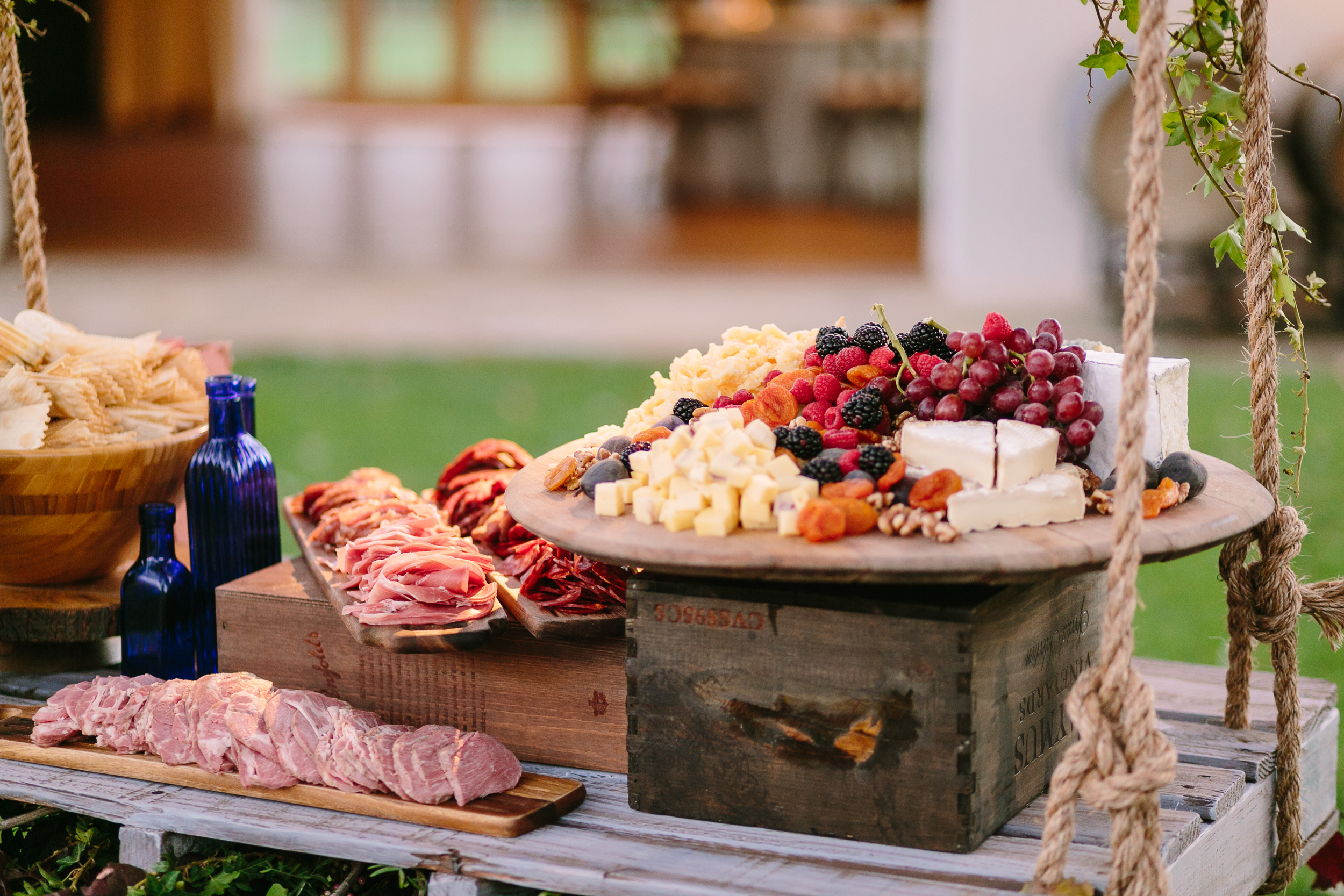 #fallatthefarmhouse2015Photos-BrianLeahyPhoto-0203 station suspended cheese and charcuterie swing hanging swing.jpg