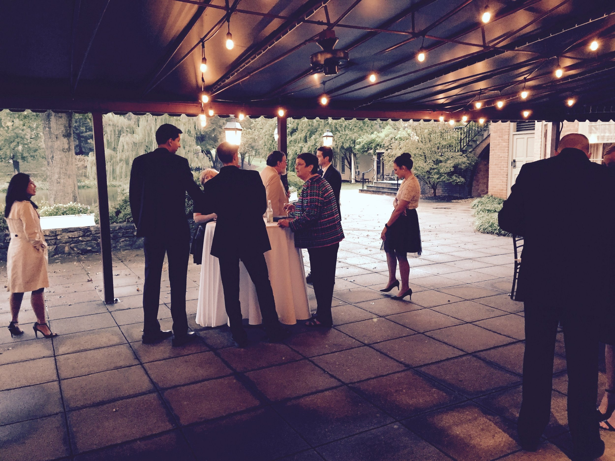 DV Entertainment DJ wedding virginia charlottesville boars head inn patio