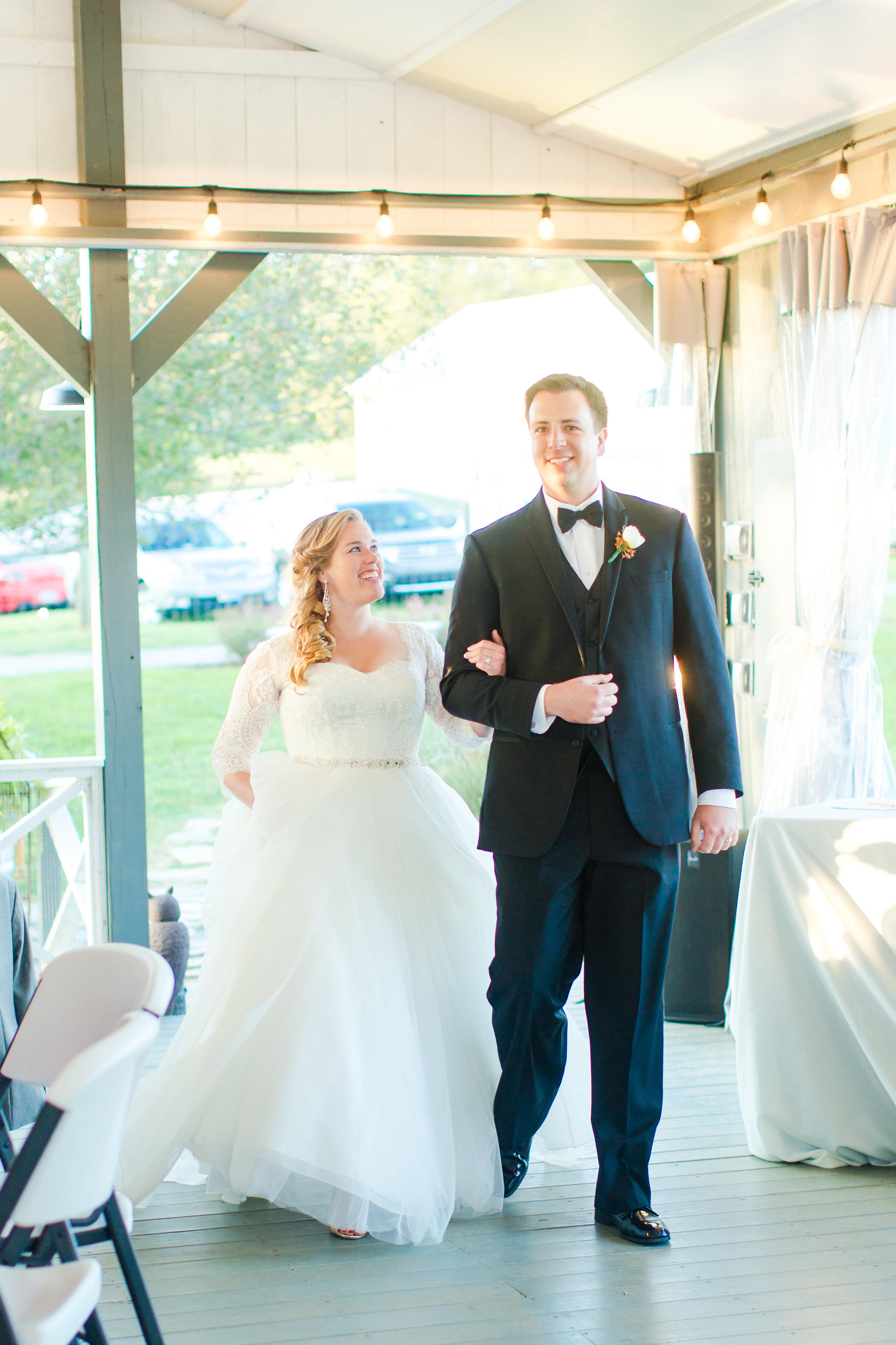 dv entertainment charlottesville wedding staunton wedding gaie lea wedding DJ eric and lindsay bride groom entrance