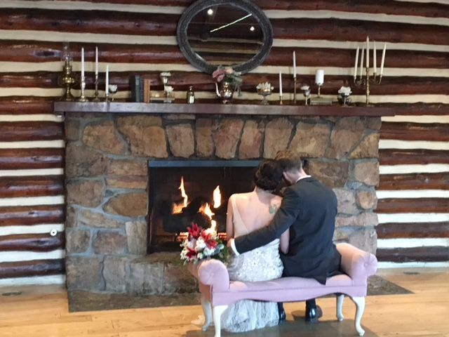 Romantic Fireplace in the Hudson Gardens Cabin