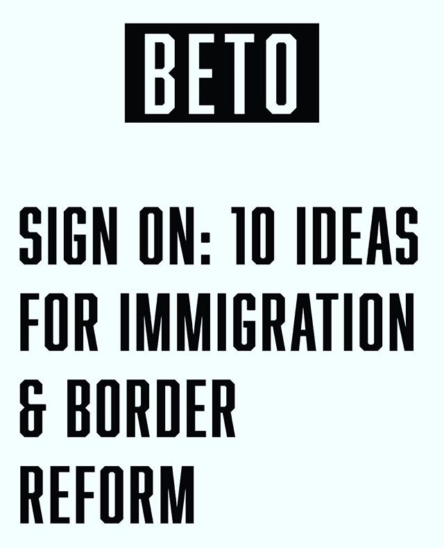 ‪Beto just emailed a 10-point ambitious, values-based immigration plan. Go sign your name in support and let him know what you think!#Beto2020 #immigration #DraftBeto #runbetorun #NoWall ‬