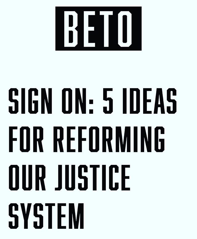 ‪Beto layed out some more great ideas for America's future.  We imprison more of our own people than any other country on the planet, disproportionately African Americans and Latinos. We must build a criminal justice system Americans can trust and that puts our country closer to the words written above the highest court in our land: equal justice under law. . . . . . #Beto2020 #prisonreform #DraftBeto #runbetorun #criminaljustice #forprofitprisons #blacklivesmatter #marijuanalegalization #legalizemarijuana #endprivateprisons